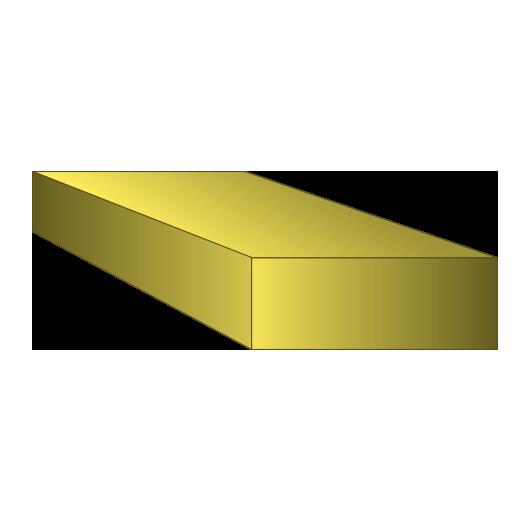 Brass Rectangle Bar