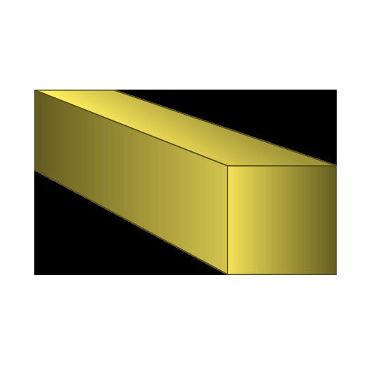 Brass Square Bar