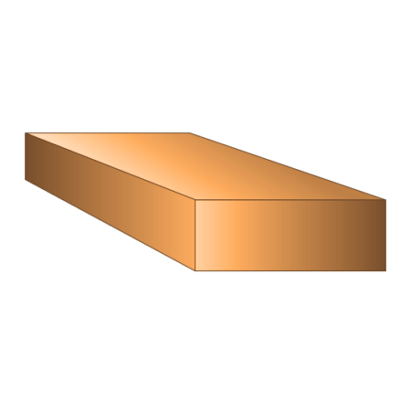 Copper Rectangle Bar